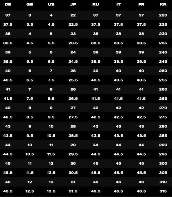 ディースクエアード-レディース-サイズ表